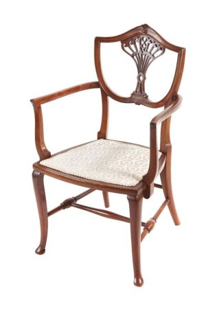 Antique Carved Mahogany Childs Chair