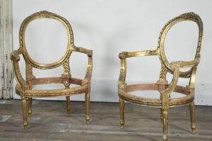Pair Of Louis Philippe Fauteuil Armchairs