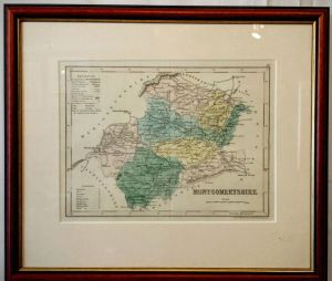 Hand Coloured Map Of Montgomeryshire By Archer 1840