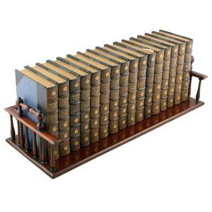George Iv Zebra Wood Book Trough