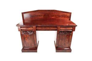 Elegant William Iv Figured Mahogany Sideboard