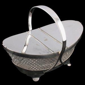 Crystal & Silver Plate Biscuiteer