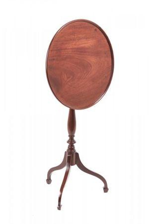 George Iii Mahogany Circular Dish Tripod Wine/lamp Table