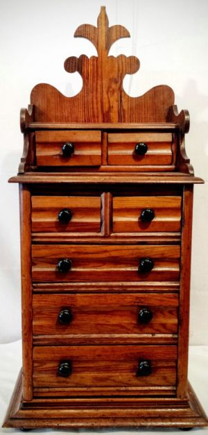 A Victorian Set Of Lancashire Pitch Pine Spice Drawers
