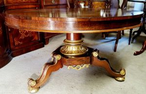 Regency Antique Rosewood Breakfast Table With Gilded Base