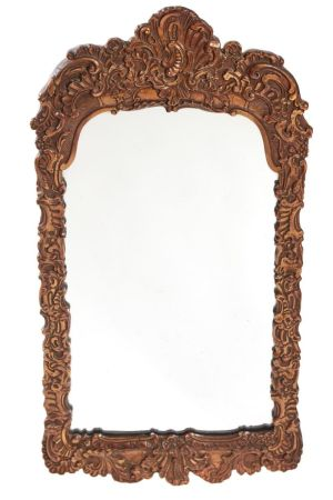 19th Century Gilt Gesso Framed Wall Mirror C.1850