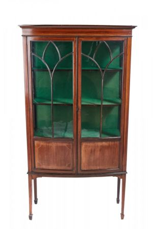 Mahogany Inlaid Display Cabinet C.1900