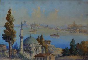"Watercolour ""view Across The Bosphorus """