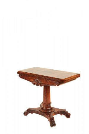 Fine William Iv Rosewood Card Table