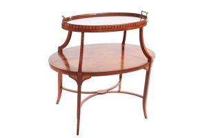 Edwardian Satinwood Inlaid Tray Top Occasional Table