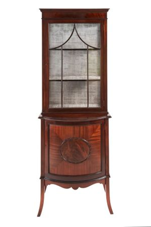 Antique Mahogany Display Cabinet C. 1900