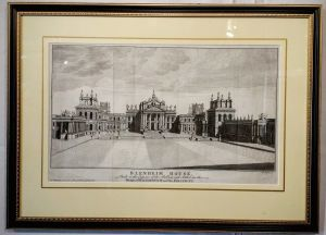 An Early Framed Engraving Of Blenheim Palace By T. Mynde