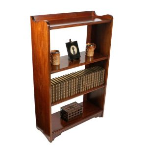 Edwardian Mahogany Open Bookshelves