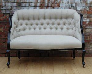 Antique Re-upholstered Salon Sofa