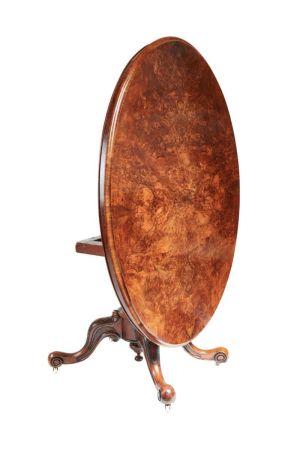 Oval Burr Antique Walnut Centre Table
