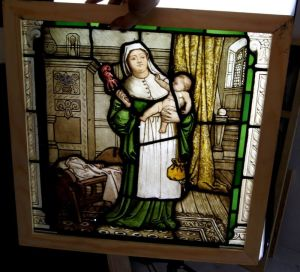 An Amazing Rare Early Painted Glass Window