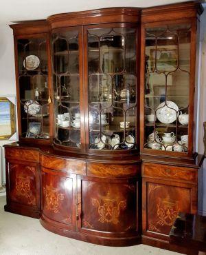 Inlaid Sheraton Mahogany Bookcase