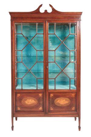 Quality Mahogany Inlaid Display Cabinet