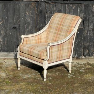 French Style Upholstered Armchair