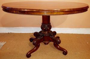 Biedermeier Oval Mahogany Centre Table
