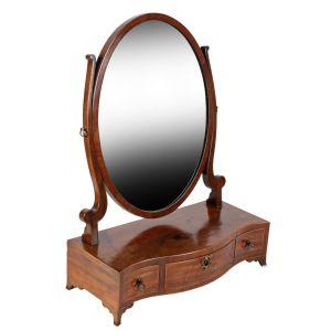 Georgian Serpentine Dressing Mirror