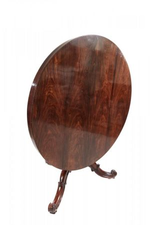 Quality Victorian Round Rosewood Centre Table