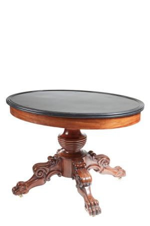 Antique Oval Marble Top Gueridon Centre Table C.1820