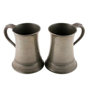 Antique Pewter Tankards