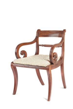 Regency Sabre Leg Elbow Chair