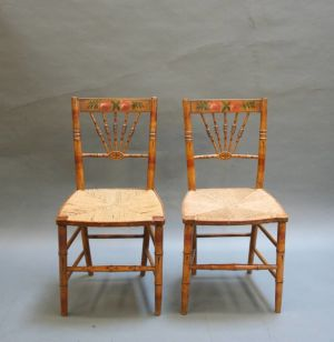 Regency Side Chairs, Pair