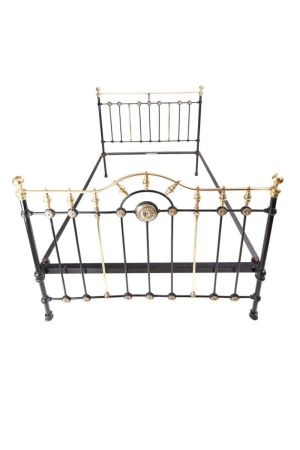 Fantastic Victorian 5ft King Size Brass & Iron Bed C.1860