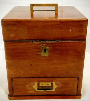 An 18th Century Apothecaries' Box With Contents