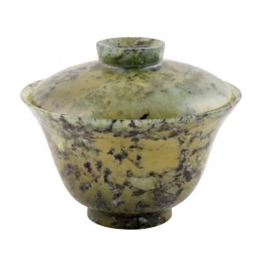 Chinese Hard Stone Bowl And Lid