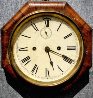 Art Deco American Ansonia Rosewood Wall Clock