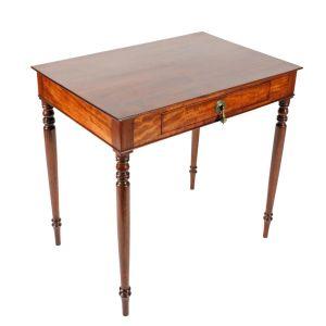 Georgian Mahogany One Drawer Table