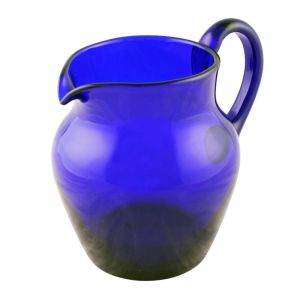 19th Century Bristol Blue Glass Jug