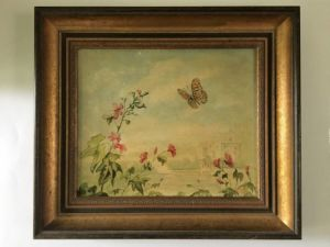 Courtenay Hoskings, British - Set Of Decorative Oils On Canvas - Butterflies In Habitat