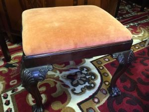 George Ii Chippendale Mahogany Style Stool (victorian)