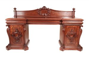 Large Magnificent Quality William Iv Carved Mahogany Sideboard C.1835