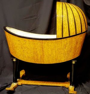German Empire Cradle In Maracas Birch - Rare Piece