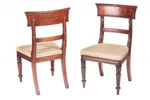 Quality Pair Of William Iv Mahogany Side / Desk