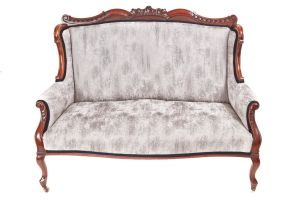 Fantastic Victorian Carved Mahogany Settee