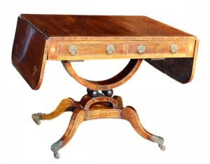 Basket Base Rosewood Sofa Table