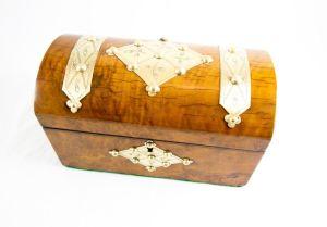 Burr Walnut Desk Box C.1860
