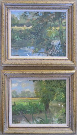Oil Painting Waterperry Landscapes