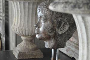 1960s Sculpture Of Childs Head