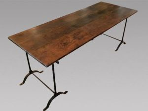A Lovely French Cherrywood Topped Table