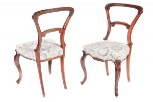 Quality Set Of 6 Victorian Carved Rosewood Dinin