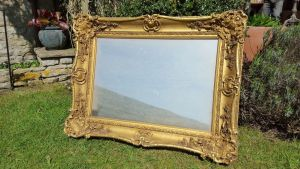 Ornate Victorian Gilt Framed Wall Mirror
