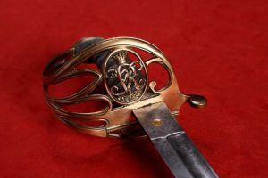Victorian Era, British 1822 Pattern, Infantry Officer's Sword & Scabbard.